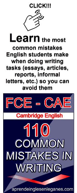FCE CAE Common Mistakes in Writing
