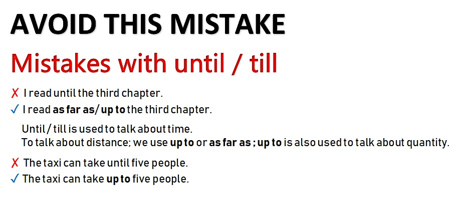 Mistakes with