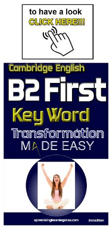 B2 First key word transformation