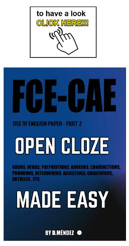 Use of English part 2 : Open cloze